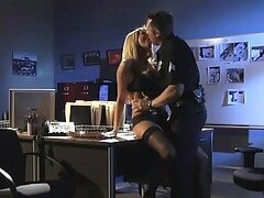 Blonde Jessica Drake Fucks a Policeman And Toys Her Ass With His Baton