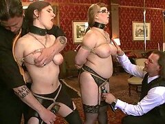 Two Skanks Tied Up & Forced To Orgasm