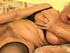 Granny blonde and young hard dick