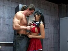 Hot Asian Cheerleader Mika Tan fucks a muscly dude