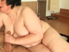 Fat old bitch is a horny fucked slut