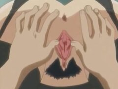 Captivating hentai honey in pantyhose getting pink cunny licked in 69 position