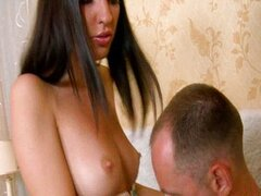 Pretty hot sexy girl gal rides up dick