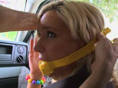 Skinny Kacey Jordan gets filled with crea,