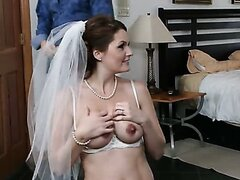 Alisson More is gangbanged before her wedding. Hot night