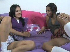 Andrea Kelly and Her Hot Ebony Friend Go Lesbian On Each Other
