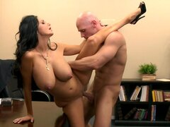 Hot secretary Ava Addams swallows Johnny Sins