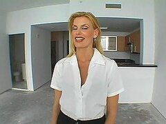 Horny Realtor Rides A Costumer's Big Hard Cock