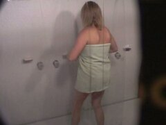 Blonde in shower hidden vids