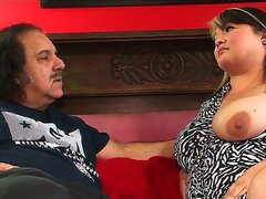 Kelly Shibari and Ron Jeremy are fucking in a hardcore mature porn session