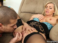 Lisa DeMarco spreads her legs open and lets her man do the work
