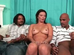 Hot bailey brooks sucks dick james and justin long's cocks