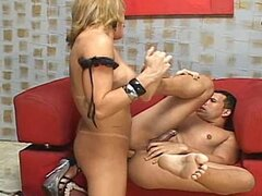 Ladyboy Bianca was drilled in her ass
