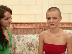 Shaved Head Sinead Learns How To Cum Properly