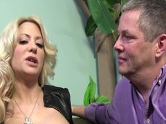 Big Tit MILF makes her cuckold husband watch as she fucks a black cock