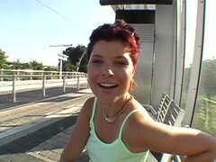 Simona Gets Nailed in some pubic place outdoors