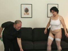 Mature Babe Loves Pussy-rubbing with Two Dicks