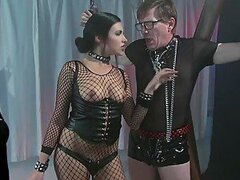 Cruel Dominatrix Danica Dillon Gets Interracially Fucked On a Sex Swing