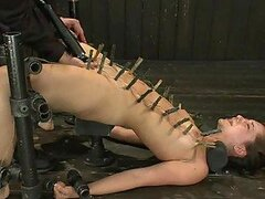 Brutal BDSM Action With Sexy Brunette And Her Hot Ass