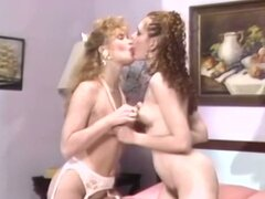 Horny lesbians pussy licking in vintage film