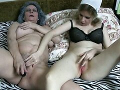 Delightful blonde MILF nurse pleases fat old slut