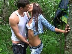 Outdoor Sex With Skinny Girl And Her Tight Pussy