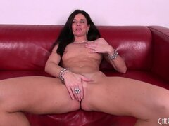 India Summer rubs her sweet treasure then vibes her clit as he fucks her