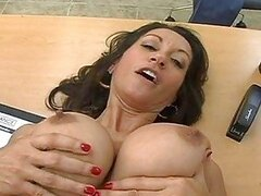 Lovely momma Persia Monir deserves a warm reward of cock sauce on her mouth