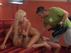Backstage: Anal Sex with A Hot Blonde Slut