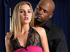 Intense Interracial Scene With A Gorgeous Blonde Teen