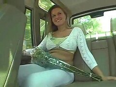 Hot Girl In White Pants Shows her Naked Body For Money