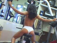 Talita del rio works out and rubs pussy before getting fucked