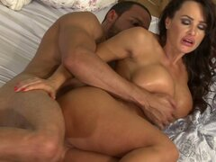 Busty MILF whore Lisa Ann is getting hammered hard from behind