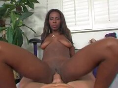 Black slut slammed by fat dick in hot scene
