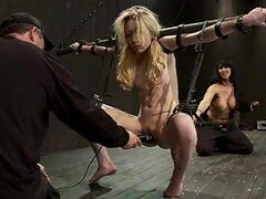 Submissive Blonde Gets Tied Up and Fucked in Wild BDSM Video