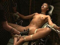 Tit and Pussy Torture For a Hanging Exotic Chick