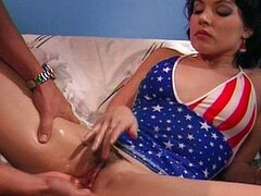 American girl fingered and fucked