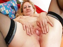 Dirty old grandma pussy spreading