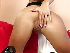 Lovely hot Veronika Simon likes the pleasure of her wild fingers on her slits