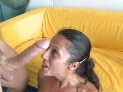 Hot Latina swallows all the cum