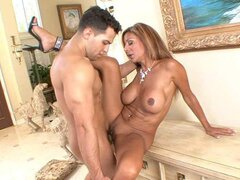 A frisky mature mom seduces a fresh faced hunk to come...