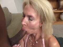Horny Lustful Blonde MILF Eager to Taste Some Big Black Cock