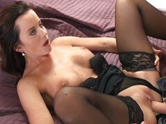 Brunette MILF pleases her man
