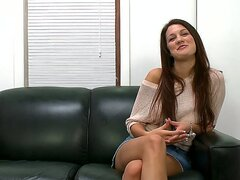 The beautiful amateur girl Kelsey Jones has come to the interview willing to become a real pornstar...