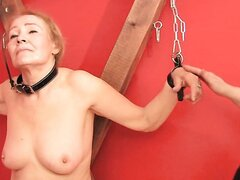 Sexy blonde granny Sofia getting involved in BDSM games
