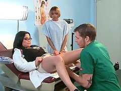 Chubby Busty Doctor Sophia Lomeli Fucked Hard By an Intern