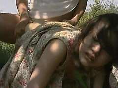 Lustful Asian Couple Enjoy a Hot Outdoor Fuck