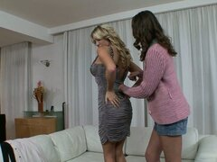 Incredible Lesbian Scene With The Hot Lexi Lowe And Nadia Bella