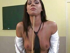 Schoolgirl being punished and fucked