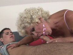 Effie gets her old hairy pussy licked and amazingly pounded